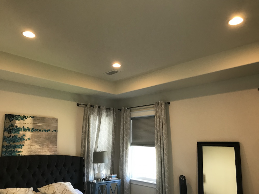 crown moulding master bedroom